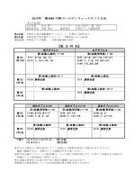 中野ゴールデンウィークテニス大会 ドローを掲載します
