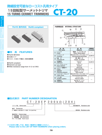 CT-20 - Copal Electronics