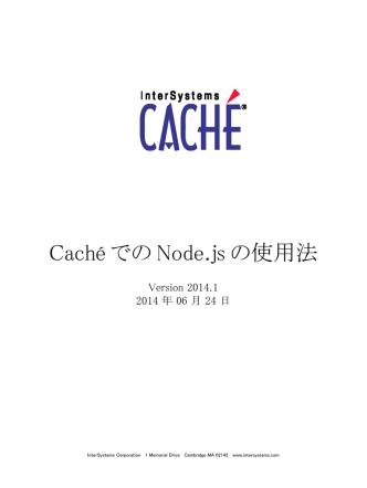 Caché での Node.js の使用法