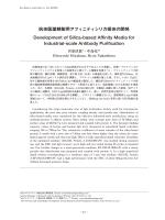 抗体医薬精製用アフィニティシリカ担体の開発 Development of Silica