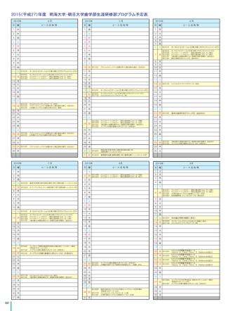 2015(平成27)年度 明海大学・朝日大学歯学部生涯研修部プログラム