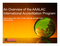 An Overview of the AAALAC International Accreditation Program
