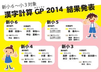 2014 新小6~小3漢字計算GP結果発表HP修正版2