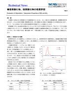 硫黄酸化物の吸着評価