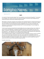 Sangha News - Calgary Buddhist Temple