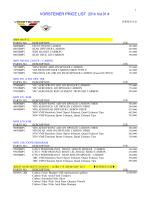 VORSTEINER PRICE LIST 2014 Vol.01