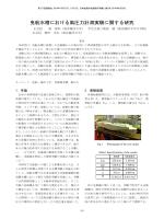 曳航水槽における風圧力計測実験に関する研究