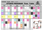 STUDIO PROGRAM Time Table