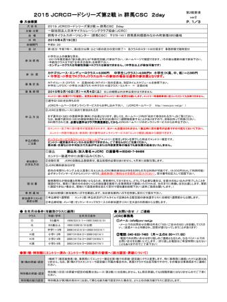 2015 JCRCロードシリーズ第2戦 in 群馬CSC 2day