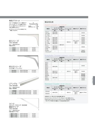 BXシリーズ 固定タイプ Lアングル BSUSシリーズ