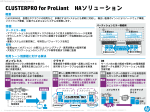CLUSTERPRO for ProLiant HAソリューション