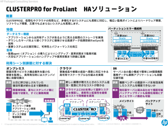 CLUSTERPRO for ProLiant HAソリューション
