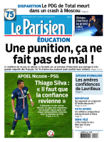 Le Parisien + Journal de Paris du mardi 21 octobre 2014