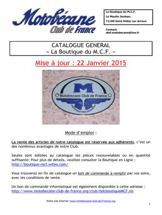 Catalogue PDF - Motobécane Club de France