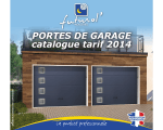 PORTES DE GARAGE catalogue tarif 2014