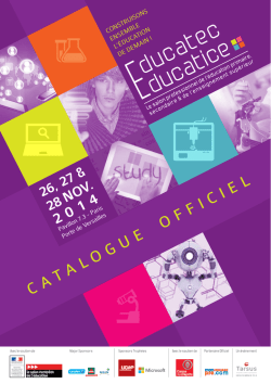 Catalogue de visite - Educatec Educatice