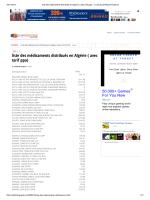 liste des médicaments distribués en Algérie ( avec tarif