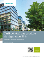 Tarif général produits 2014
