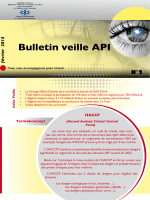 fèvrier 2014 Bulletin veille API N°2 HACCP