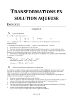 TRANSFORMATIONS EN SOLUTION AQUEUSE - Chimie-pcsi