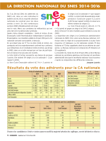LA DIRECTION NATIONALE DU SNES 2014-2016