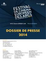 DOSSIER DE PRESSE 2014 - Festival De Cinéma Européen des Arcs