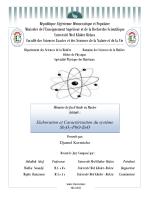Elaboration et Caractérisation du système Sb2O3-PbO-ZnO
