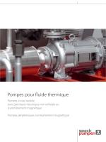 Catalogue: Pompes pour fluide thermique