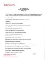 Liste des candidats admissibles au Collège