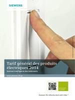 Tarif produits électriques 2014