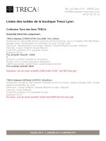 Listes des soldes de la boutique Treca Lyon.