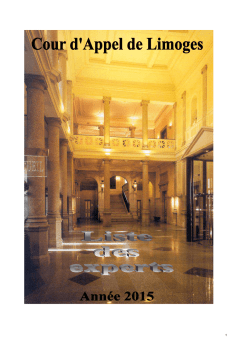 Liste Experts 2015 - Cour de cassation