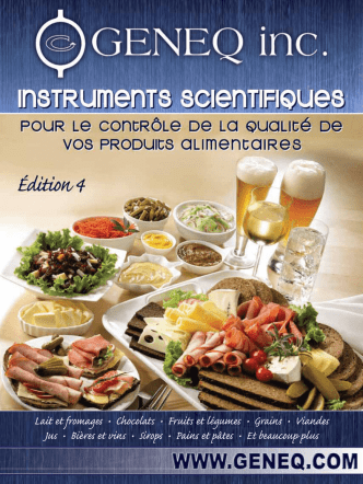 Catalogue alimentaire Geneq
