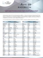 AVIS DE RADIATION - Ordre des ingénieurs du Québec