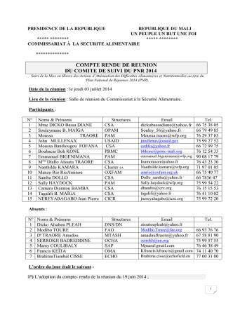 Compte Rendu PNR du 3 Juillet 2014