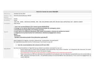 CR Cluster AME-ABRI du 02-05-2014