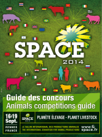 Guide des concours Animals competitions guide