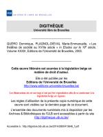 DIGITHÈQUE - Université Libre de Bruxelles