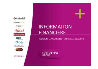 Damartex presentation des resultats - Fev 2014