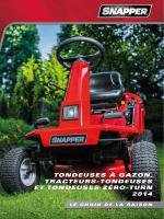 tracteurs et tondeuses à rayon de braquage zéro