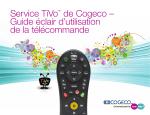 Manuel d`utilisation de la télécommande Cogeco TiVo