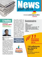 Nouveaux Lauréats 2014 - Réseau Entreprendre International