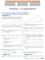 Troisième / La trigonométrie