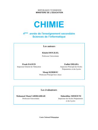 CHIMIE - Ecole numérique