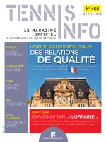 N°460 - Avril 2014 - Fédération Française de Tennis