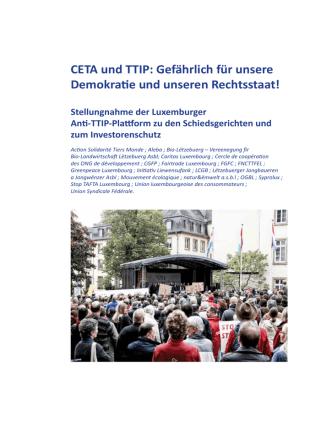 CETA und TTIP: Gefährlich für unsere Demokratie und