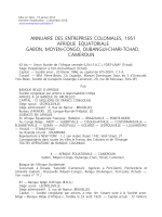 Annuaire entreprises coloniales 1951-AEF