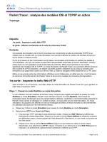 Packet Tracer : analyse des modèles OSI et TCP/IP en action