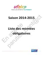 Saison 2014-2015 Liste des montées obligatoires