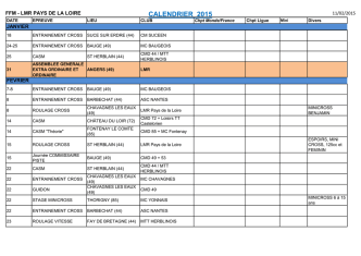 CALENDRIER 2015 - Ligue Motocycliste des Pays de la Loire